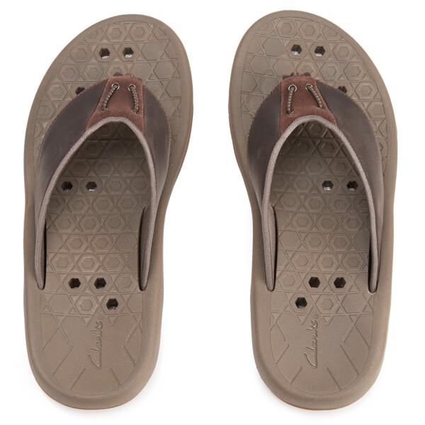 Clarks Men's Bosun Coast Nubuck Toe Post Sandals - Brown