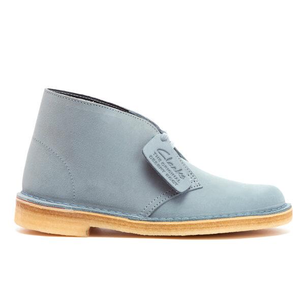 Clarks Originals Women's Desert Boots - Grey/Blue Suede
