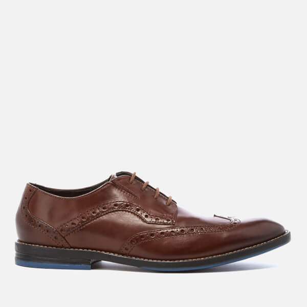Clarks Men's Prangley Limit Leather Brogues - British Tan