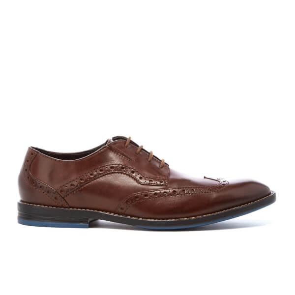 Clarks Men's Prangley Limit Leather Brogues - British Tan