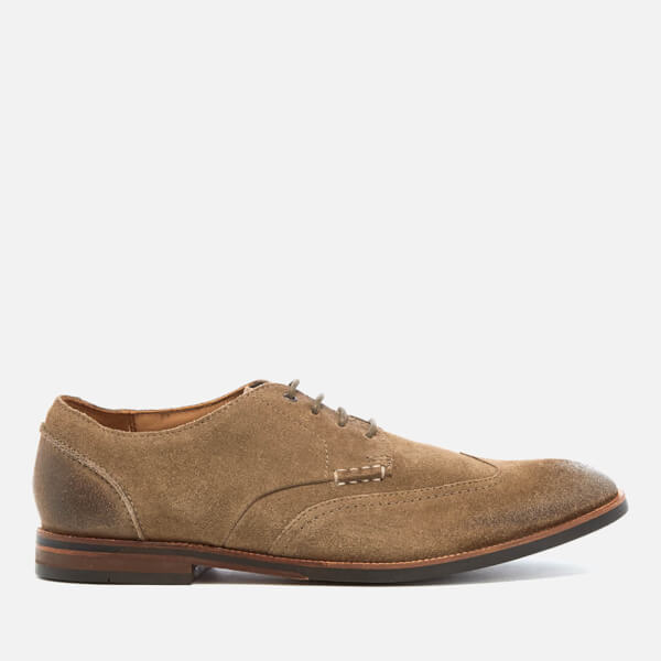 Clarks Men's Broyd Wing Suede Derby Shoes - Olive