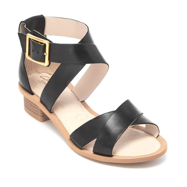 f6f72867c1e721 Clarks Women s Sandcastle Ray Leather Strappy Sandals - Black  Image 2