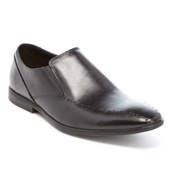 clarks s bton free leather slip on shoes black