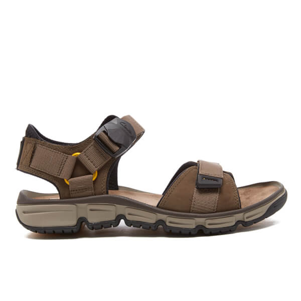 Clarks Men's Explore Part Nubuck Sandals - Mushroom