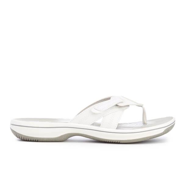 67485b93c4d263 Clarks Women s Brinkley Calm Toe Post Sandals - White Combi  Image 3