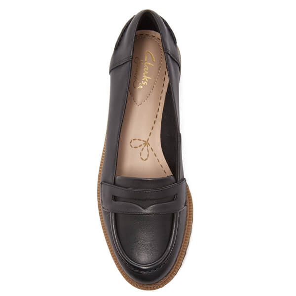 f35219e5fb7 Clarks Women s Griffin Milly Leather Loafers - Black  Image 3