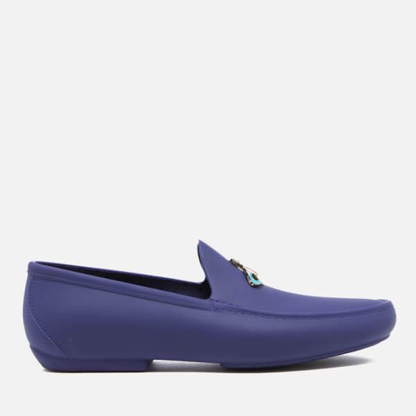 Vivienne Westwood MAN Men's Enamelled Orb Moccasin Shoes - Cobalt Blue