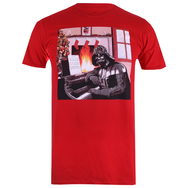 Star Wars Men's Vader Piano T-Shirt - Red