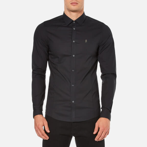 Luke 1977 Men's Butchers Pencil Long Sleeve Shirt - Black