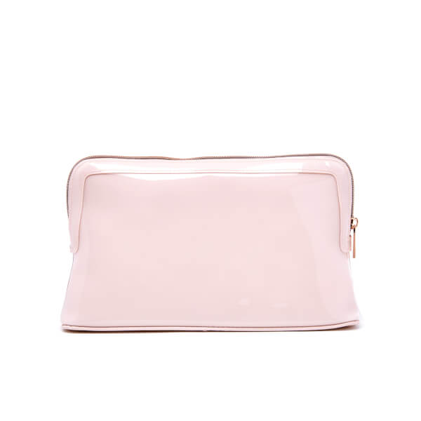 eb2675a1f6dd Ted Baker Women s Abbie Curved Bow Large Wash Bag - Mid Pink  Image 5