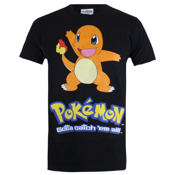 Pokemon Men's Charmander T-Shirt - Black