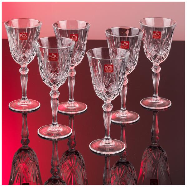 Verres à Vin en Cristal RCR Melodia (Lot de 6)