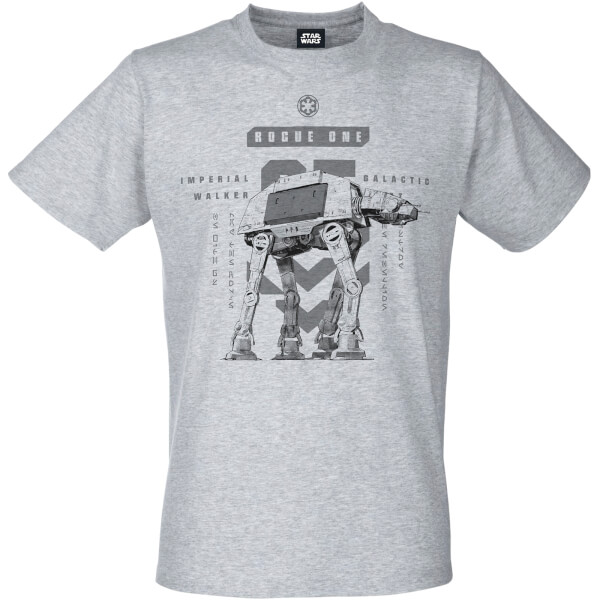 Star Wars: Rogue One Men's Imperial Walker T-Shirt - Grey