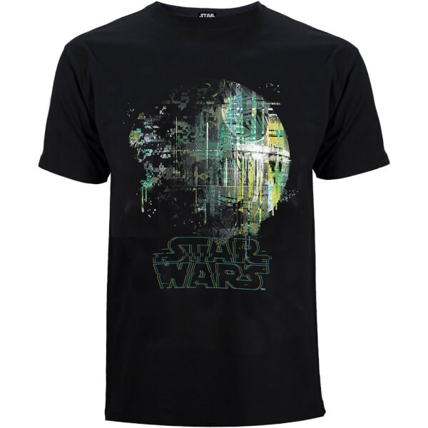 Star Wars Rogue One Men's Rainbow Effect Death Star T-Shirt - Black