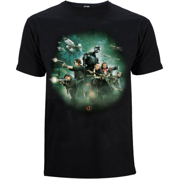T-Shirt Homme Star Wars Rogue One Group Battle - Noir