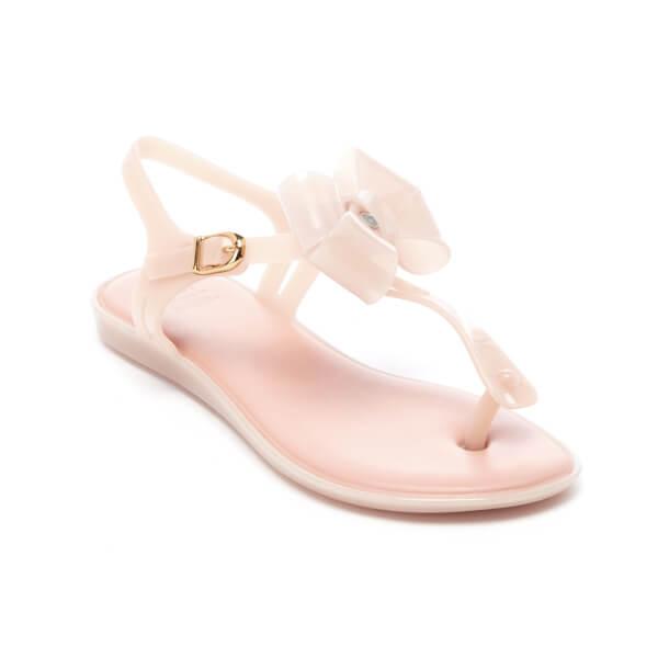 Melissa Women's Solar Bow Plastic Toe Post Buckle Sandal Blush-Blush-6 Size 6 Qryb3VHEMf
