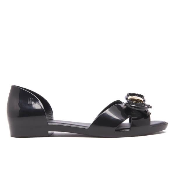 Vitorino Campos for Melissa Women's Seduction Open Toe Flats - Black