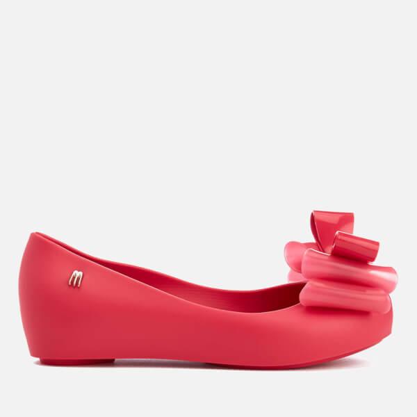 Mini Melissa Kids' Ultragirl Triple Bow Ballet Flats - Pink