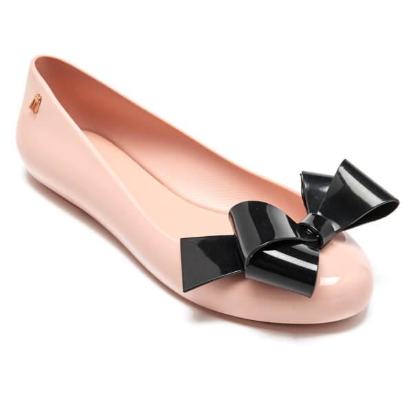 Melissa Women'S Space Love Ribbon Bow Plastic Flat Blush Black Contrast-Blush-8 Size 8 ZcgSYOn