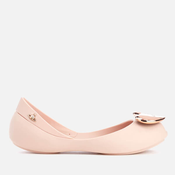 Mini Melissa Vivienne Westwood Kids' Queen Ballet Flats - Rose Heart