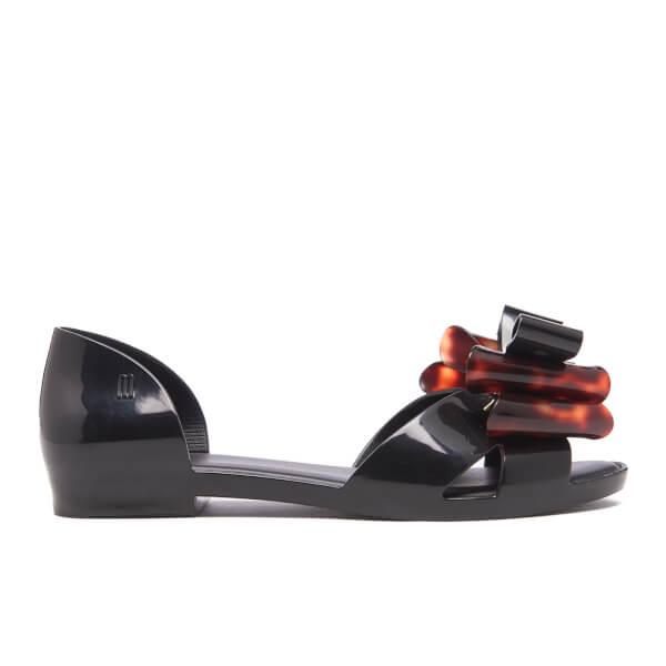 Melissa Women's Seduction Triple Bow Flats - Black Tortoiseshell