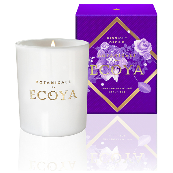 ECOYA Botanicals Evolution Midnight Orchid Candle - Mini Metro Jar