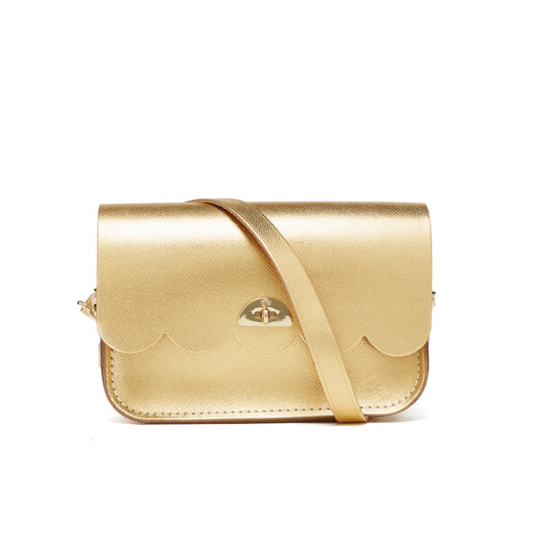 The Cambridge Satchel Company Women's Small Cloud Bag - Gold Saffiano