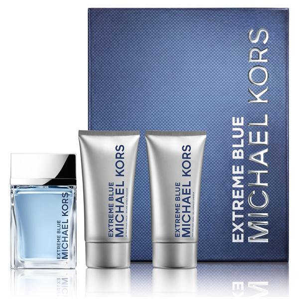 Michael Kors Extreme Blue Eau de Toilette 120ml, Body Wash and Aftershave Balm Set