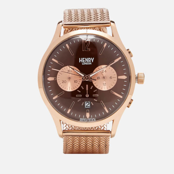 Henry London Harrow Chronograph Bracelet Watch - Rose Gold