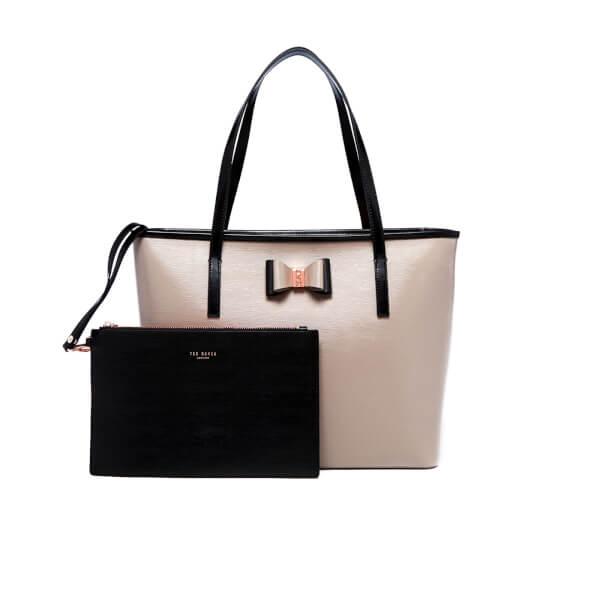 daf4a39f6ad8 Ted Baker Women s Carilen Bow Detail Large Leather Shopper Bag - Mink   Image 7