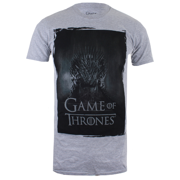 T-Shirt Homme Game of Thrones Throne - Gris Chiné