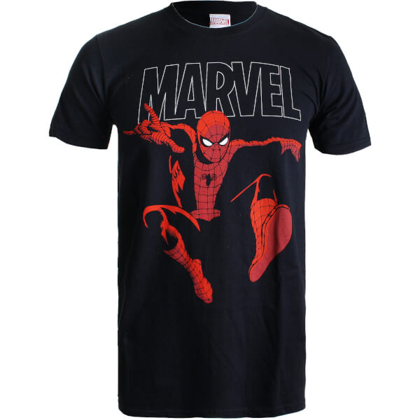 Marvel Boys' Spider-Man Strike T-Shirt - Black