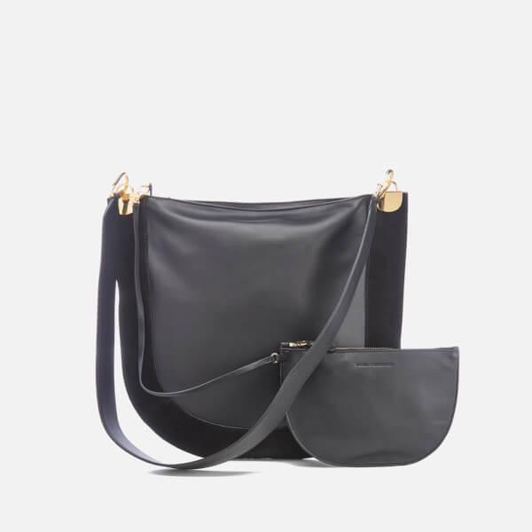 Diane von Furstenberg Women's Moon Leather/Suede Cross Body Bag - Black