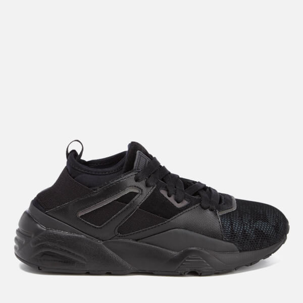 Puma Women's Blaze of Glory Sock Swan Trainers - Black/Black