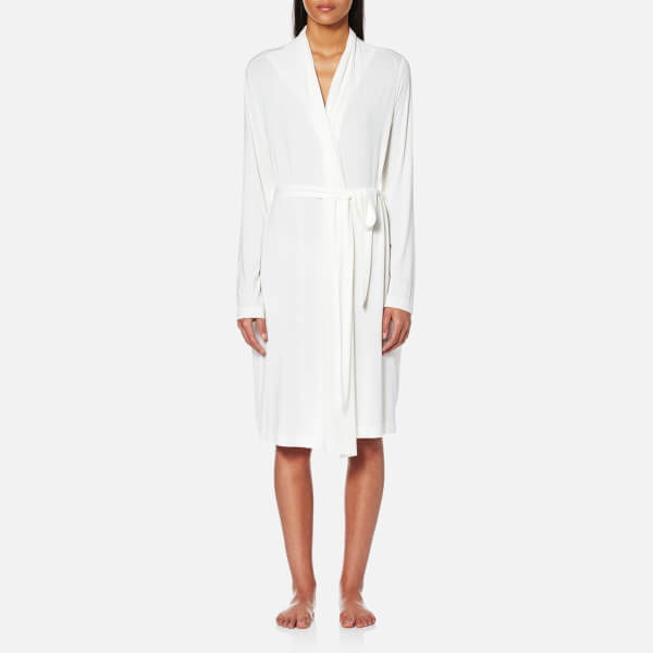 UGG Women's Birgette Lightweight Jersey Knit Dressing Gown - Antique White