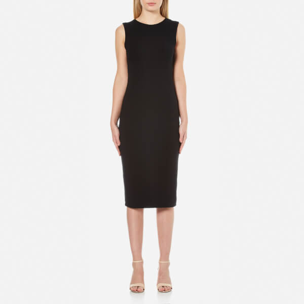 T by Alexander Wang Women's Modal Backslits Sleeveless Dress - Black