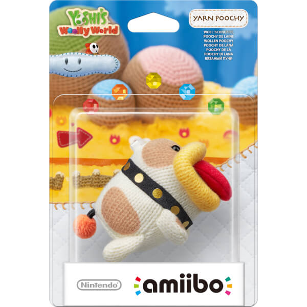 Yarn Poochy amiibo (Yoshi's Woolly World Collection)