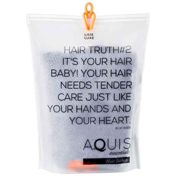 Aquis Hair Turban Lisse Luxe Cloudy Berry: Image 21