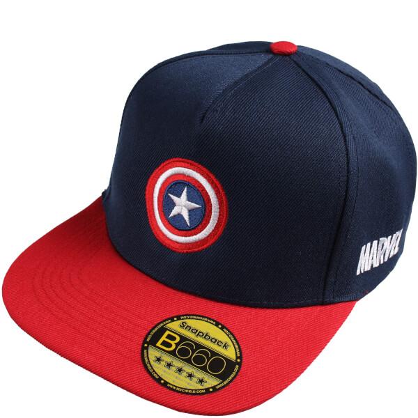 Marvel Men's Captain America Cap - Navy/Red