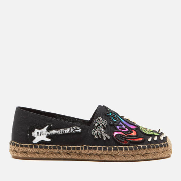 Marc Jacobs Women's Sienna Embroidered Flat Espadrilles - Black Multi