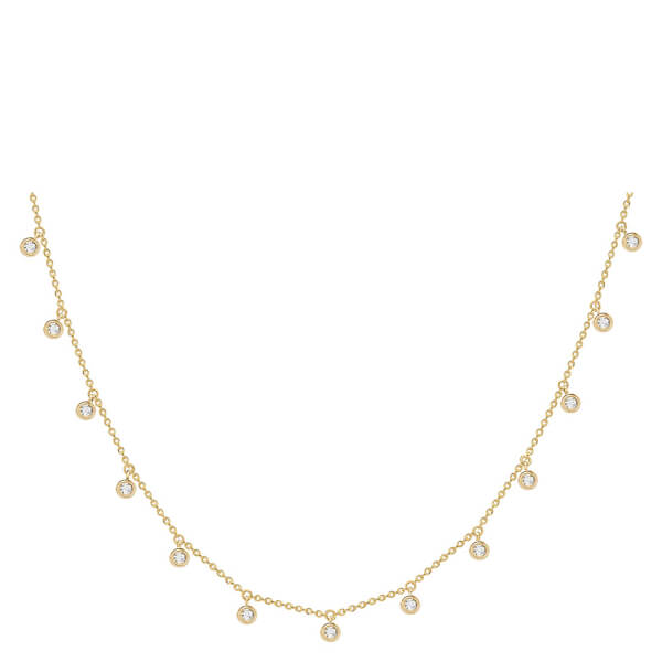 Missoma Women's Interseller Drop Necklace - Gold