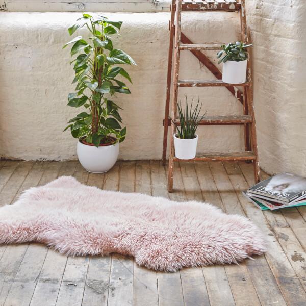 Sheepskin Rug Look: Royal Dream Large Sheepskin Rug - Heavenly Pink