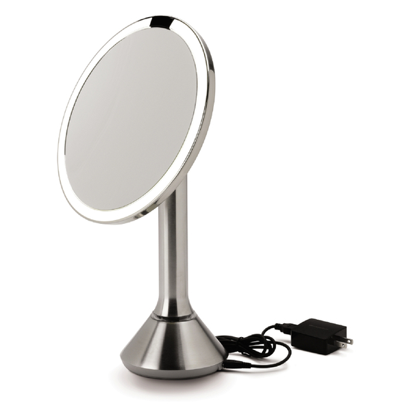 Simplehuman Rechargeable Stainless Steel Sensor Mirror 5x Magnification 20cm Image 3