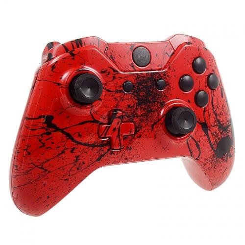 Xbox One Custom Controller - Red Splatter Games