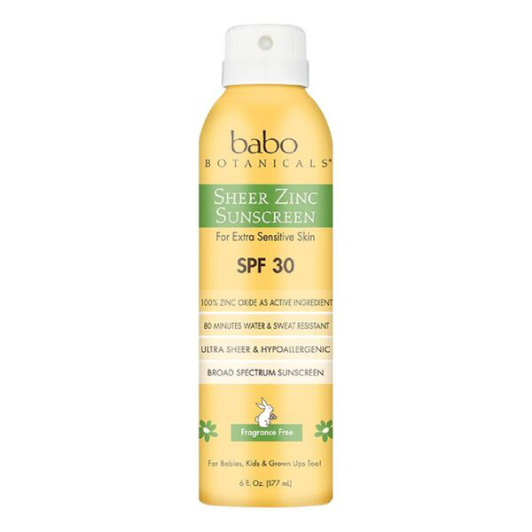 Babo Sheer Zinc Fragrance Free Continuous Spray Sunscreen SPF 30