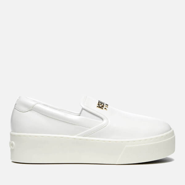 Kenzo Women'S K Py Patent Platform Slip On Trainers - White - Free