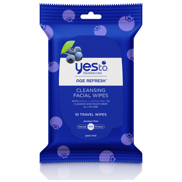 yes to Blueberries Cleansing Facial Wipes (Pack of 10)