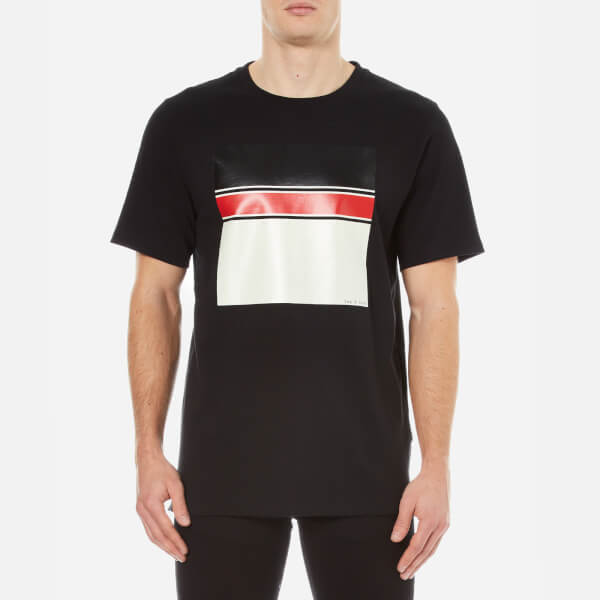 rag & bone Men's Multiblock Crew Neck T-Shirt - Black
