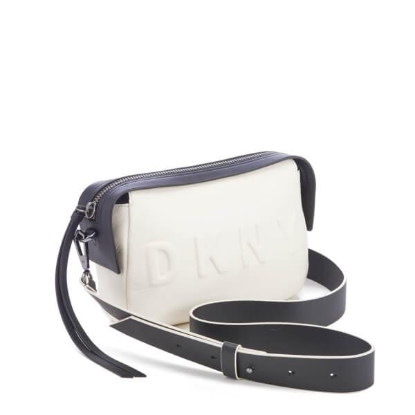 DKNY Women s Debossed Logo Cross Body Bag - Cream  Image 2 8831ca2f97b7b