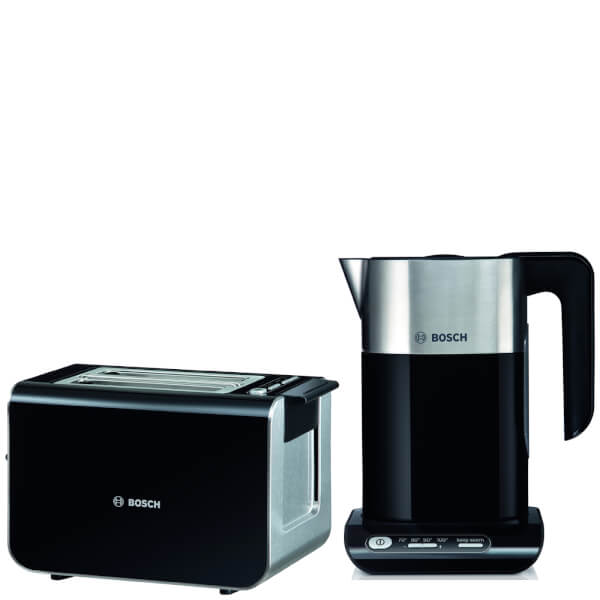 bosch twk8633gb styline toaster and kettle black. Black Bedroom Furniture Sets. Home Design Ideas